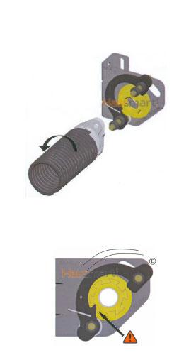 Zaščitna blokada torzijske vzmeti na garažnih vratih - Skupni elementi