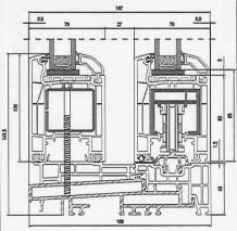 PVC vrata Aluplast IDEAL 4000_prerez1